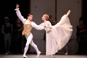 Houston Ballet's Marie; Ian Casady and Melody Herrera; Photo by Amitava Sarkar