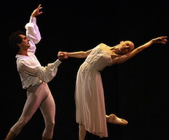 Sergio Neglia and Silvina Vaccarelli in Romeo and Juliet. (photo by Gene Witkowski)