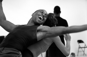 Nick Muckleroy of Urban Souls Dance Company in Courtney D. Jones' ...and the bodies drop. Photo by Sam Li.