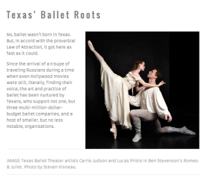 Learn about Texas' Ballet Roots