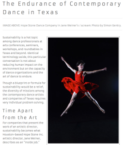 The Endurance of Contemporary Dance in Texas