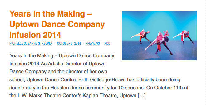 Uptown Dance Company preview