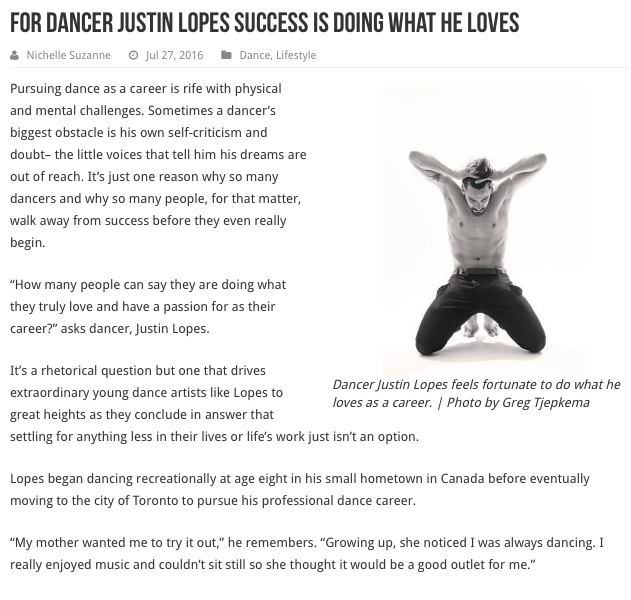 Justin Lopes - Dancer