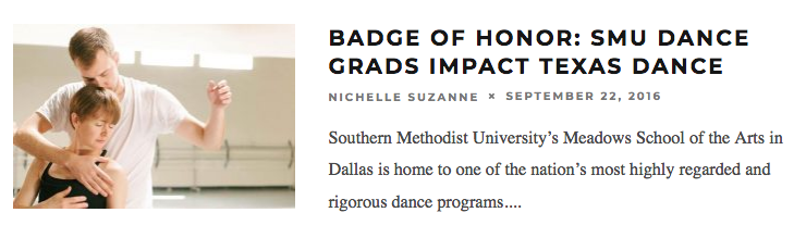 Badge of Honor: SMU Dance Grads Impact Texas Dance