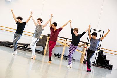 Artists of Houston Ballet in rehearsal for Trey McIntyre's Pretty Things, Photo by Amitava Sarkar, courtesy of Houston Ballet.